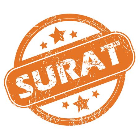 Surat round stamp