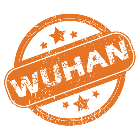 wuhan: Wuhan round stamp