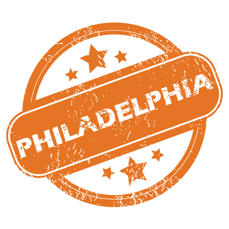 philadelphia: Philadelphia round stamp Illustration