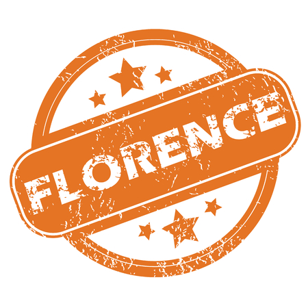 florence: Florence round stamp Illustration