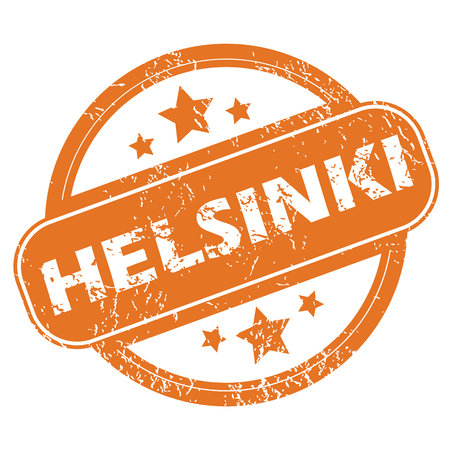 Helsinki round stamp Illustration