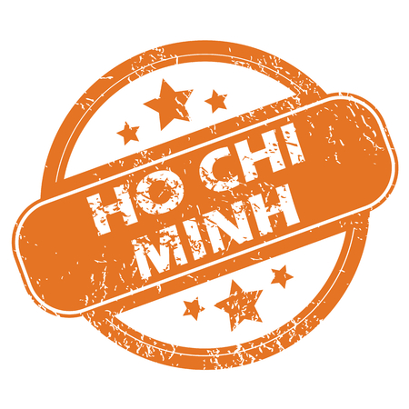 chi: Ho Chi Minh round stamp Illustration