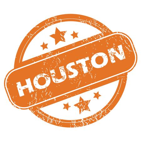houston: Houston round stamp