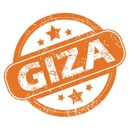 giza: Giza round stamp Illustration