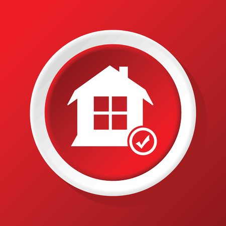 select: Select house icon on red Illustration