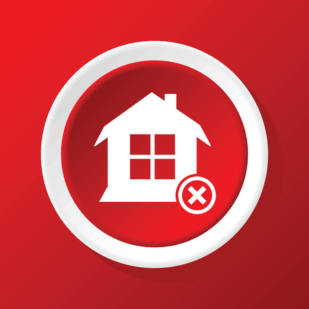 no gradient: Remove house icon on red