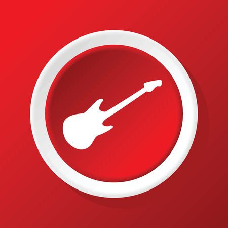 lead guitar: Guitar icon on red