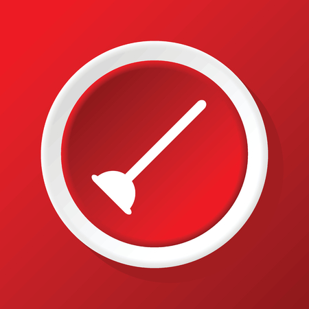 plunger: Plunger icon on red