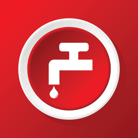 Tap icon on red