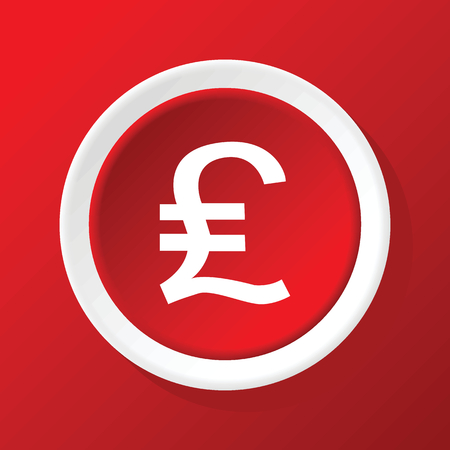 sterling: Pound sterling icon on red