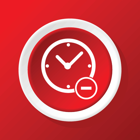 reduce: Reduce time icon on red Illustration