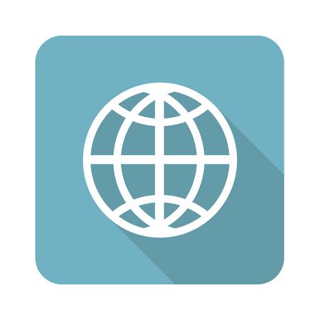parallel world: Globe square icon Illustration