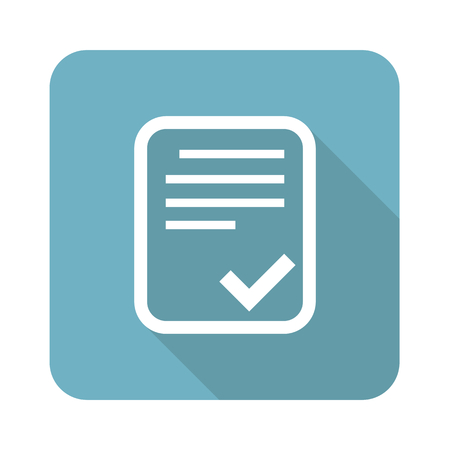 approved: Approved document square icon