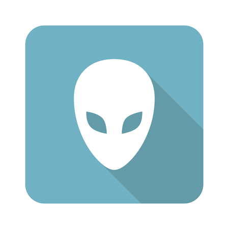 alien symbol: Alien square icon