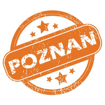 poznan: Poznan round stamp