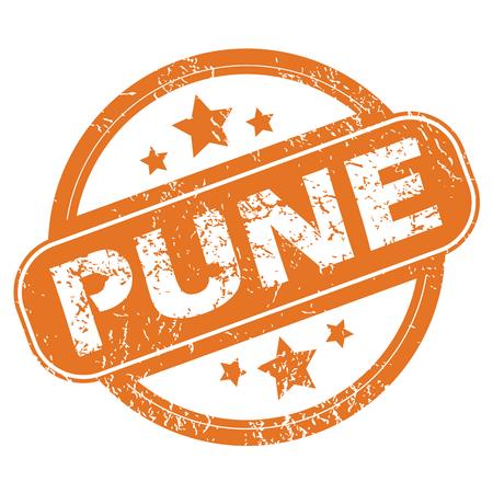 pune: Pune round stamp