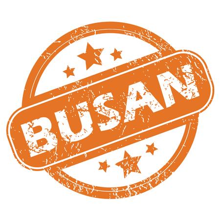 archive site: Busan round stamp Illustration