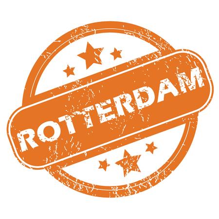 rotterdam: Rotterdam round stamp Illustration