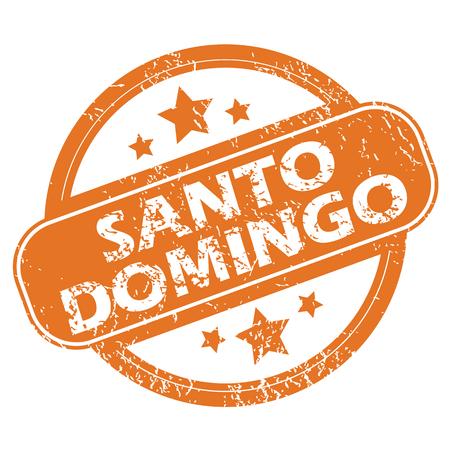 domingo: Santo Domingo round stamp