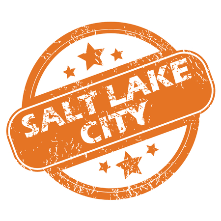 salt lake city: Salt Lake City round stamp Illustration