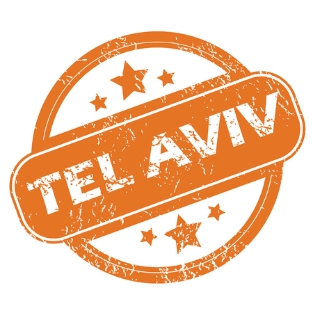 aviv: Tel Aviv round stamp