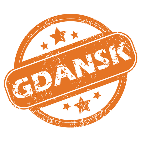 gdansk: Round rubber stamp with city name Gdansk and stars, isolated on white Illustration