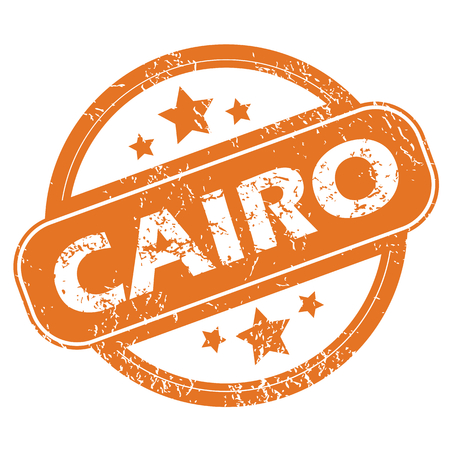 cairo: Round rubber stamp with city name Cairo and stars, isolated on white Illustration