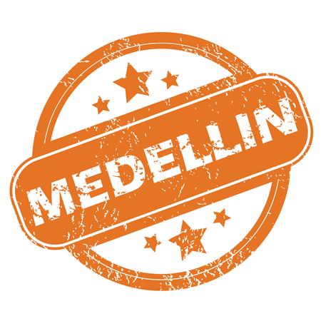 archive site: Medellin round stamp