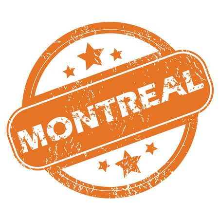 montreal: Montreal round stamp Illustration