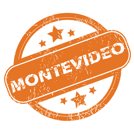 montevideo: Montevideo round stamp Illustration