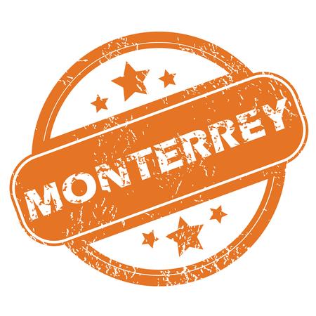 monterrey: Monterrey round stamp Illustration