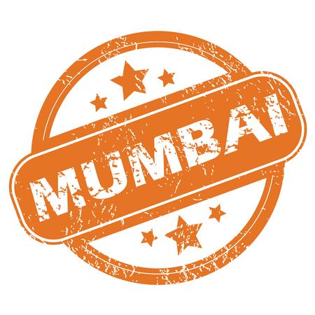 mumbai: Mumbai round stamp Illustration