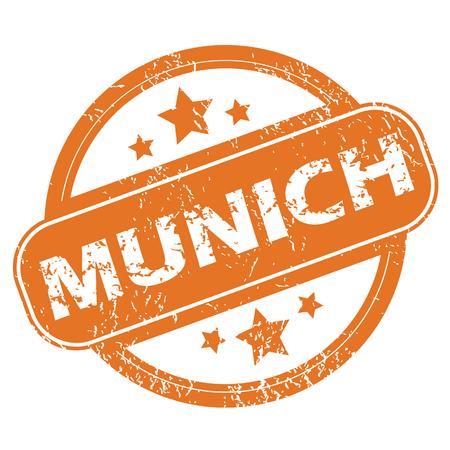 m�nchen: Munich round stamp