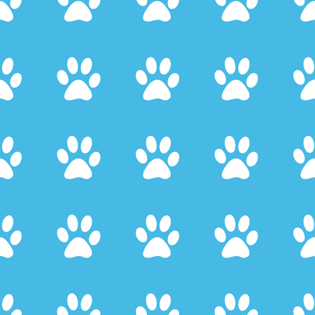 track pad: Paw print straight pattern Illustration
