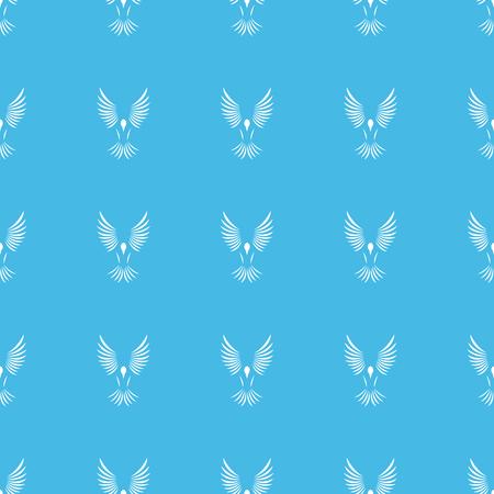 wing span: Flying bird straight pattern Illustration