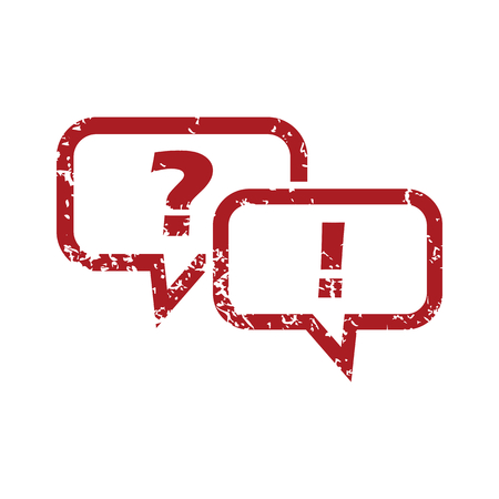 question and answer: Question answer red grunge icon
