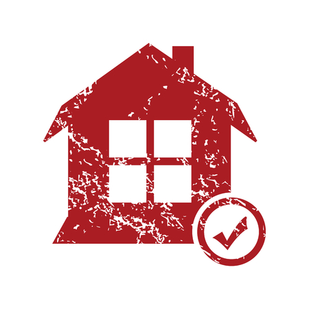 select: Select house red grunge icon