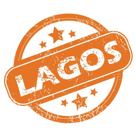 lagos: Lagos round stamp