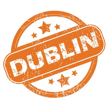 dublin: Dublin round stamp