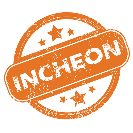 incheon: Incheon round stamp