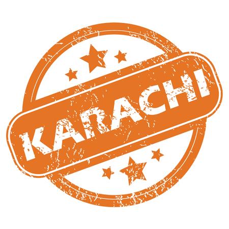 karachi: Karachi round stamp