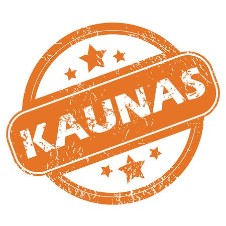 Kaunas round stamp Vector