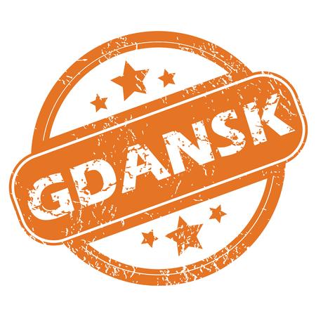 gdansk: Gdansk rubber stamp Illustration