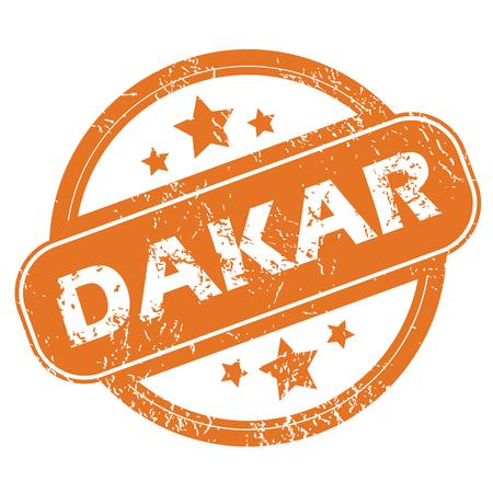 dakar: Dakar rubber stamp Illustration