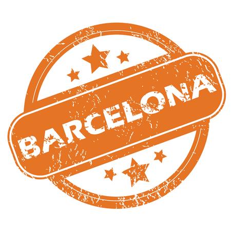 barcelona: Barcelona round stamp