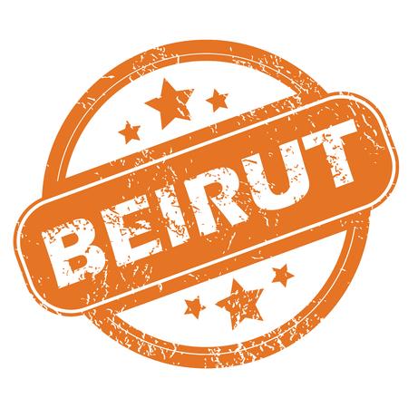 beirut: Beirut round stamp
