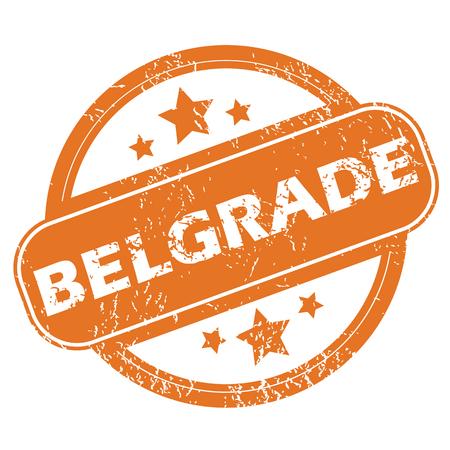 belgrade: Belgrade round stamp