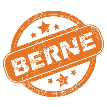Berne round stamp Vector