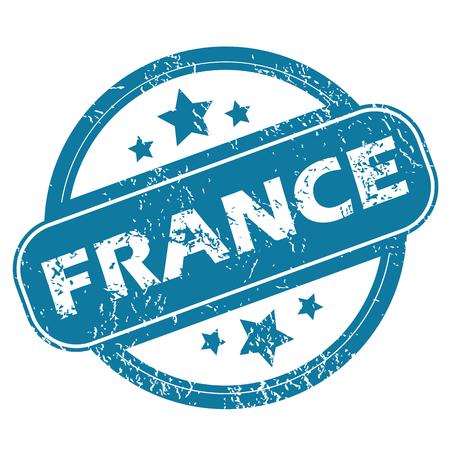 france stamp: FRANCE round stamp