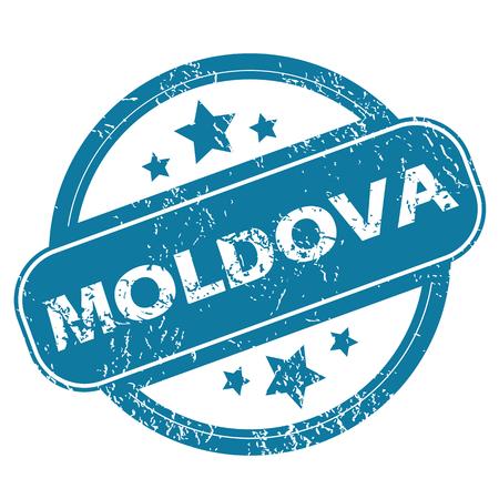 moldova: MOLDOVA round stamp Illustration